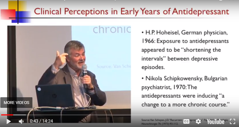 History We Can't Overlook Anymore: Details Before the Anti-Depressant Era